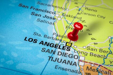 Los Angeles CA City Map Porta Potty Rentals